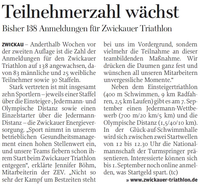 Freie Presse - 27-08-2014